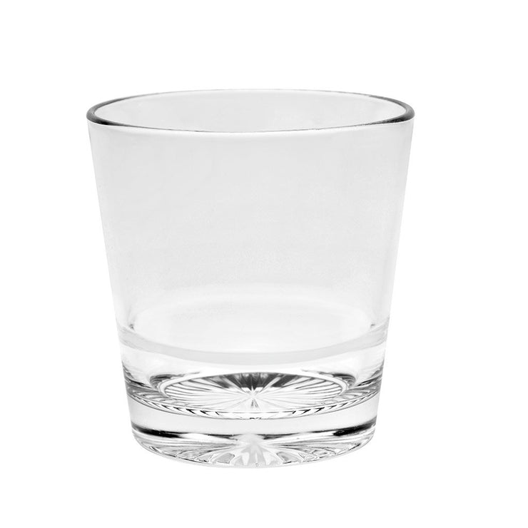 European Lead Free Crystalline Double Old Fashioned Tumblers - Stackable- Won't Get Stuck - 13.5 oz., Set of 6