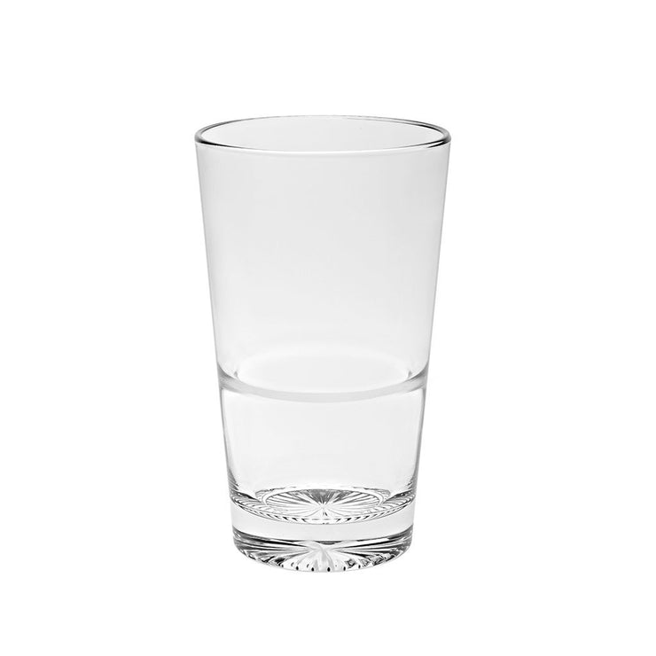 European Lead Free Crystalline Highball Tumblers - Stackable- Won't Get Stuck- 14.2 oz., Set of 6