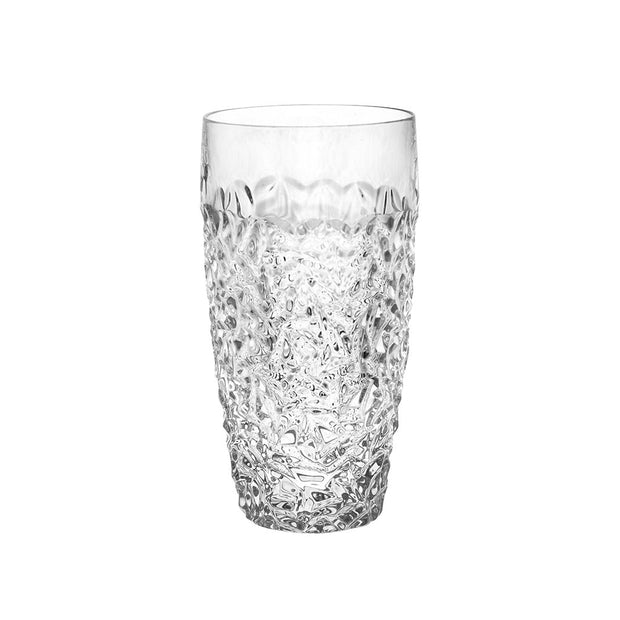 European Crystal Highball Tumbler - For  Water - Juice - Wine - Beer - 16 Oz. - Set of 6