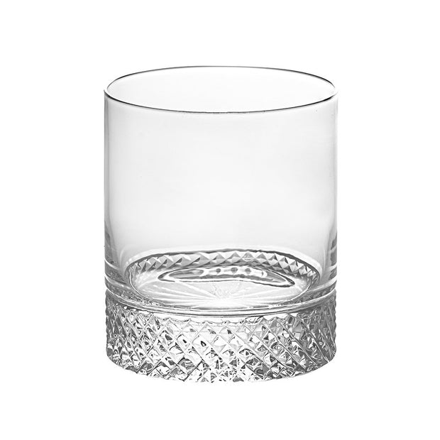 European Crystal Double Old Fashioned Tumbler - For  Whiskey - Bourbon - Water - Beverage - 13 oz. - Set of 6