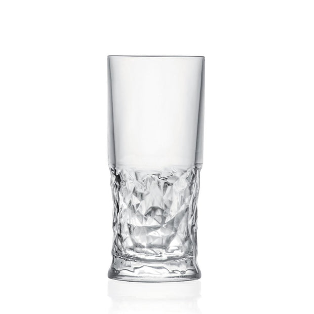 European Lead Free Crystalline Highball Tumblers - For Water - Juice - Wine - Beer & Cocktails - 13 Oz. - Set of 6