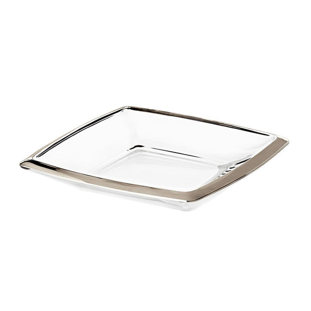 "European Lead Free Crystalline Serving Tray - Platter W/ Platinum Rim - 11"" Diameter"