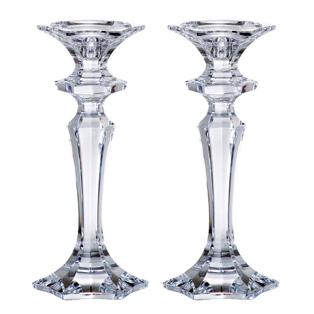 "European Lead Free Crystalline Candlesticks - 10"" Height - Set of 2"