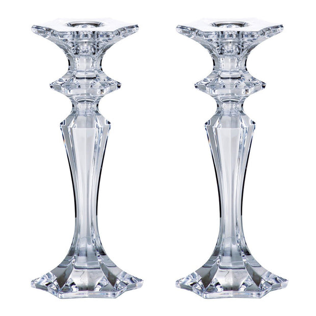 "European Lead Free Crystalline Candlesticks - 8"" Height - Set of 2"