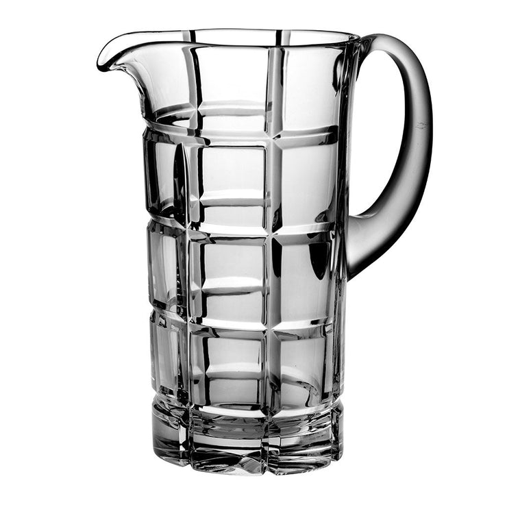 "European Hand Cut Crystal Pitcher- 50 oz., 9"" Height"