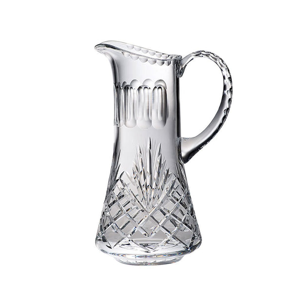 European Handmade Cut Crystal Pitcher W/ Handle & Spout - 36 Oz.