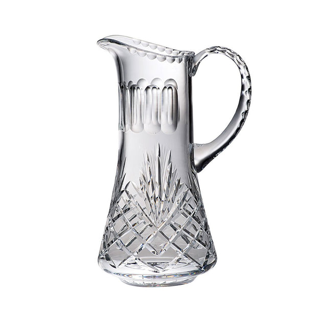 European Handmade Cut Crystal Pitcher W/ Handle & Spout - 24 Oz.