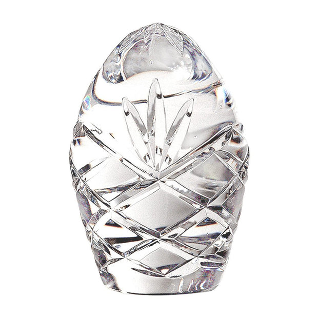 European Handmade Cut Crystal Egg Shaped Desk / Tabletop Paperweight