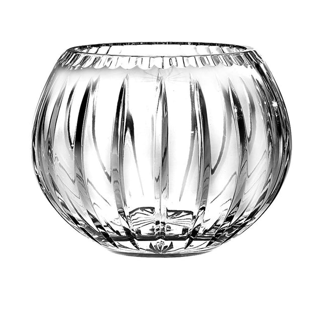 "European Quality Hand Cut Crystal Rose Bowl / Votive - Joy Design - 5"" Diameter"