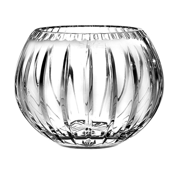 "European Quality Hand Cut Crystal Rose Bowl / Votive - Joy Design - 6"" Diameter"