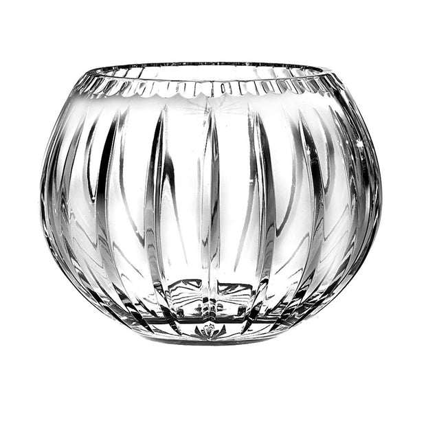 "European Quality Hand Cut Crystal Rose Bowl / Votive - Joy Design - 7"" Diameter"