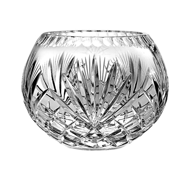 "European Quality Hand Cut Crystal Rose Bowl / Votive - 5"" Diameter"