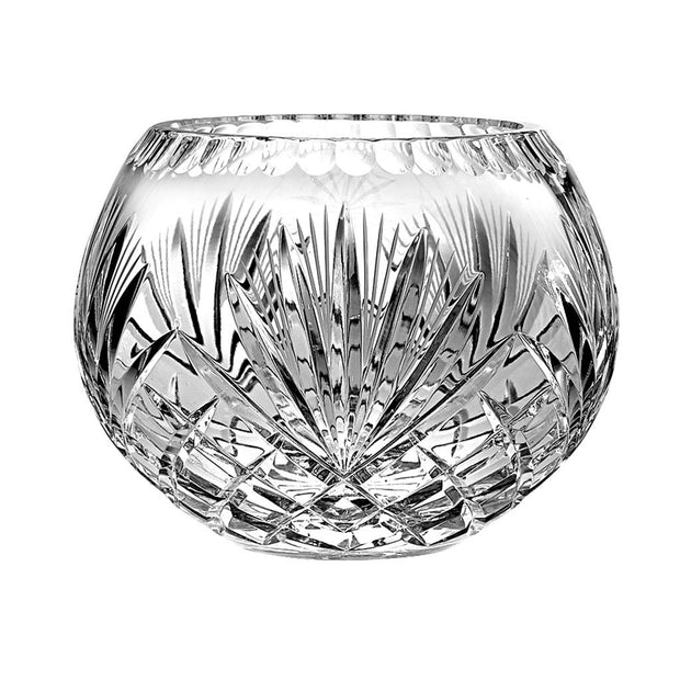 "European Hand Cut Crystal Rose Bowl / Votive - 6"" Diameter"