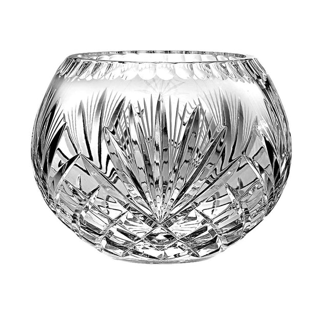 "European Hand Cut Crystal Rose Bowl / Votive - 7"" Diameter"
