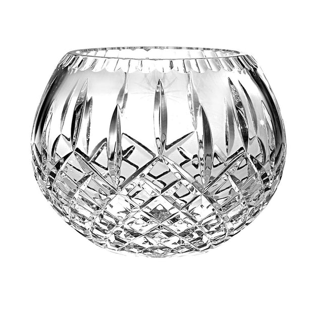 "European Hand Cut Crystal Rose Bowl / Votive - 5"" Diameter - Plaza Design"