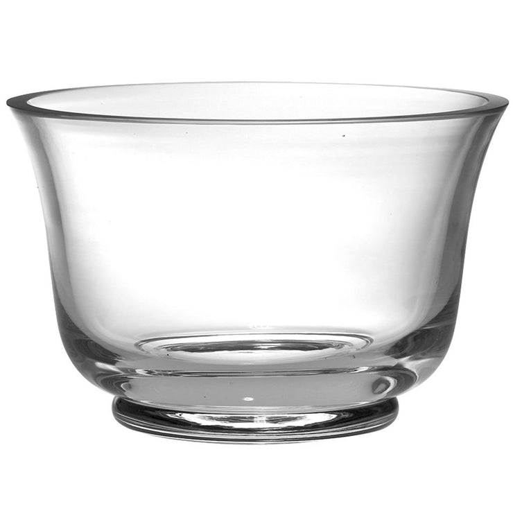 "European Handmade Glass Thick Revere Serving Bowl - 9"" Diameter"
