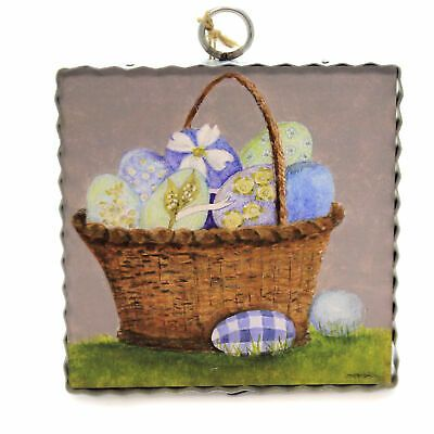 Blue Eggs Basket Print