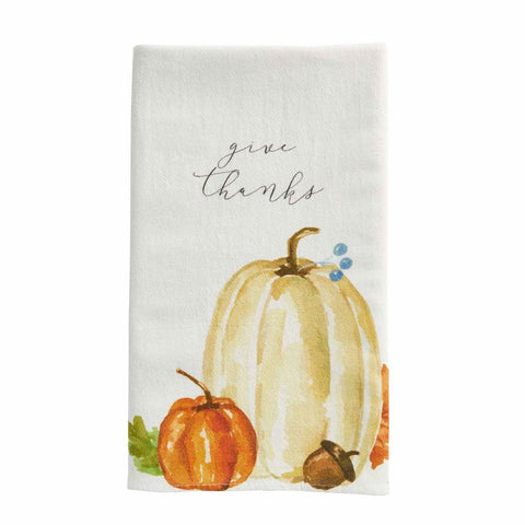 Give Thanks Pumpkin Towel