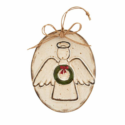 Stoneware Angel Ornament