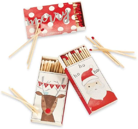 Christmas Matches - Merry, Santa, or Reindeer