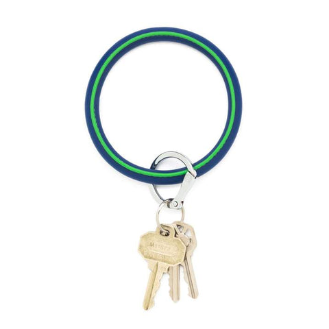 Leather Big O Key Ring - Mind Blowing Blue