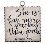 Mini Proverbs 3:15 Inspiration Print