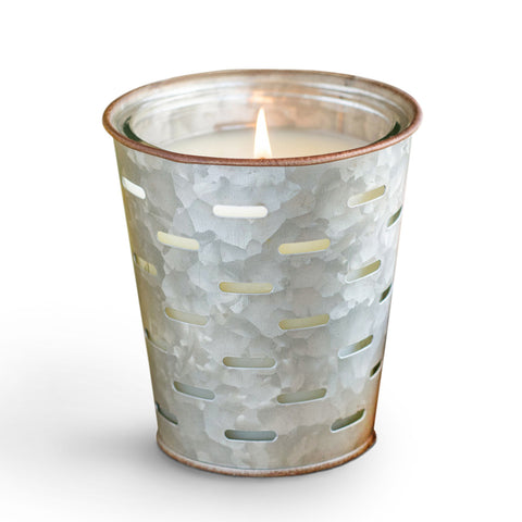 Lemon Verbena Olive Bucket Candle