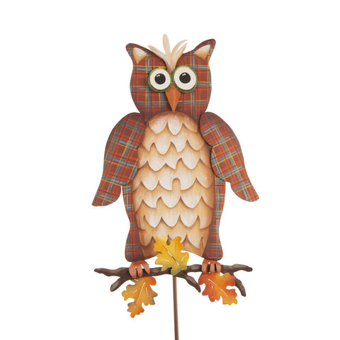 Plaid Owl on Branch
