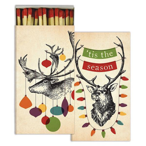 Decorated Stag Christmas Matches