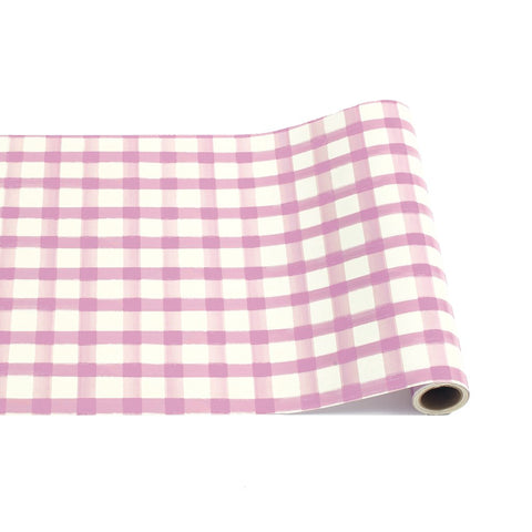 Lilac Check Table Runner