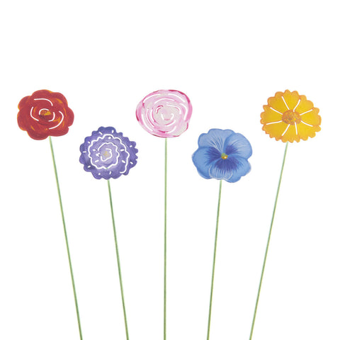 Colorful Single Flowers - Set of 5