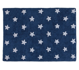 Washable Stars Rug - Navy Blue