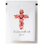 Floral Cross Towel
