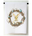 One Bunny Wreath Towel