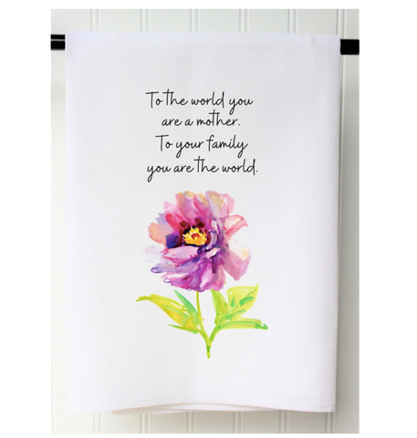 """To the World Mother"" Towel"