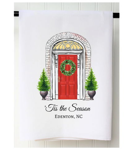 Friendswood Christmas Door Towel