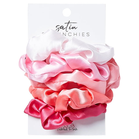 Satin Scrunchies - Pink