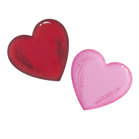 Red & Pink Heart Magnets