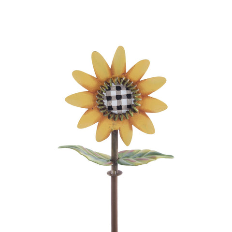 Buffalo Check Sunflower Finial