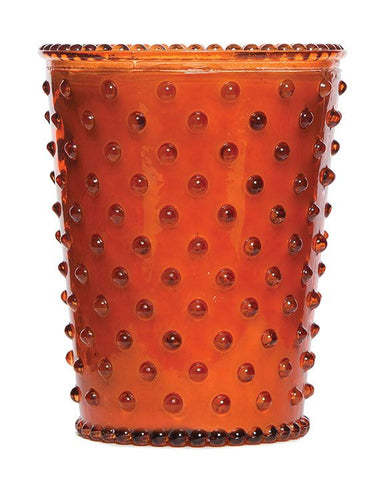 Simpatico Hobnail Candle - Amber
