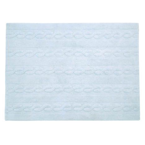 Washable Rug Braids - Soft Blue