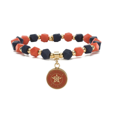 MLB Hexagon Astros gold Bracelet
