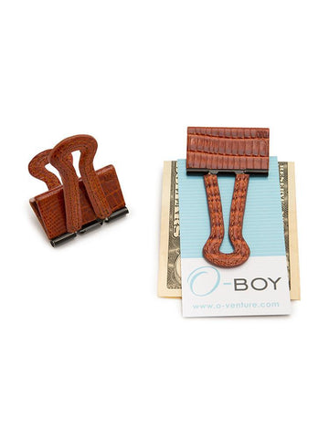 O-Venture O-Boy Embossed Lizard Money Clip