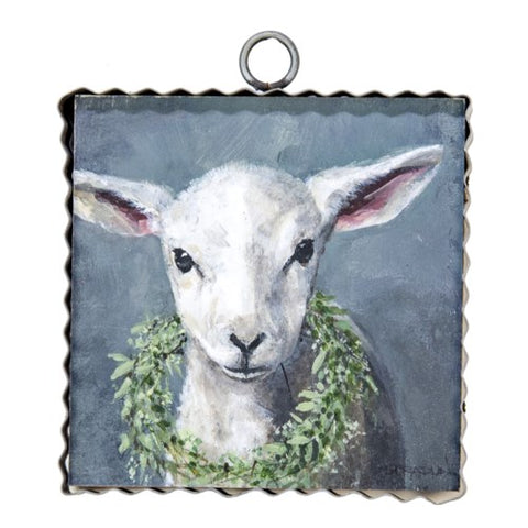 Mini Gallery Lamb with Wreath