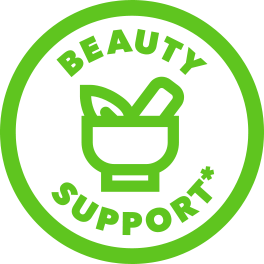 green beauty support icon