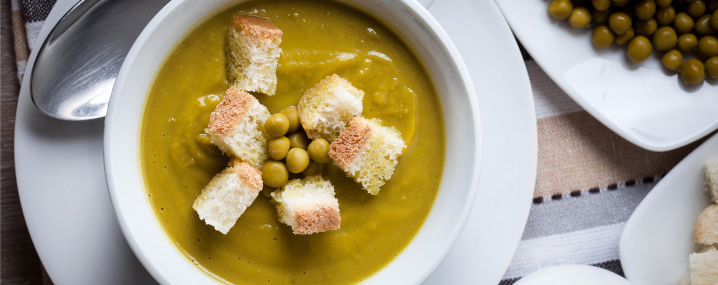 Celery and Protein Pea Soup article banner