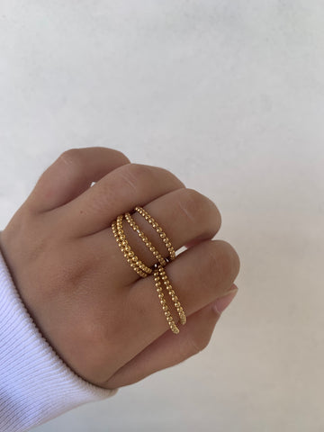 Gold Ball Chain Ring