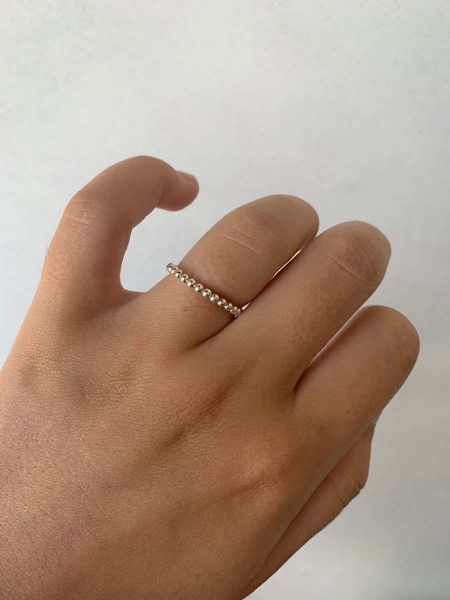 Silver Ball Chain Ring