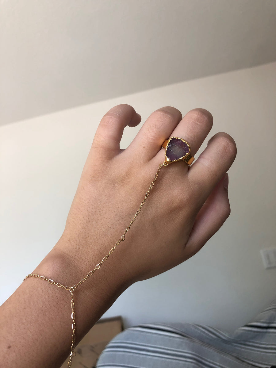 Gemstone Hand Chain