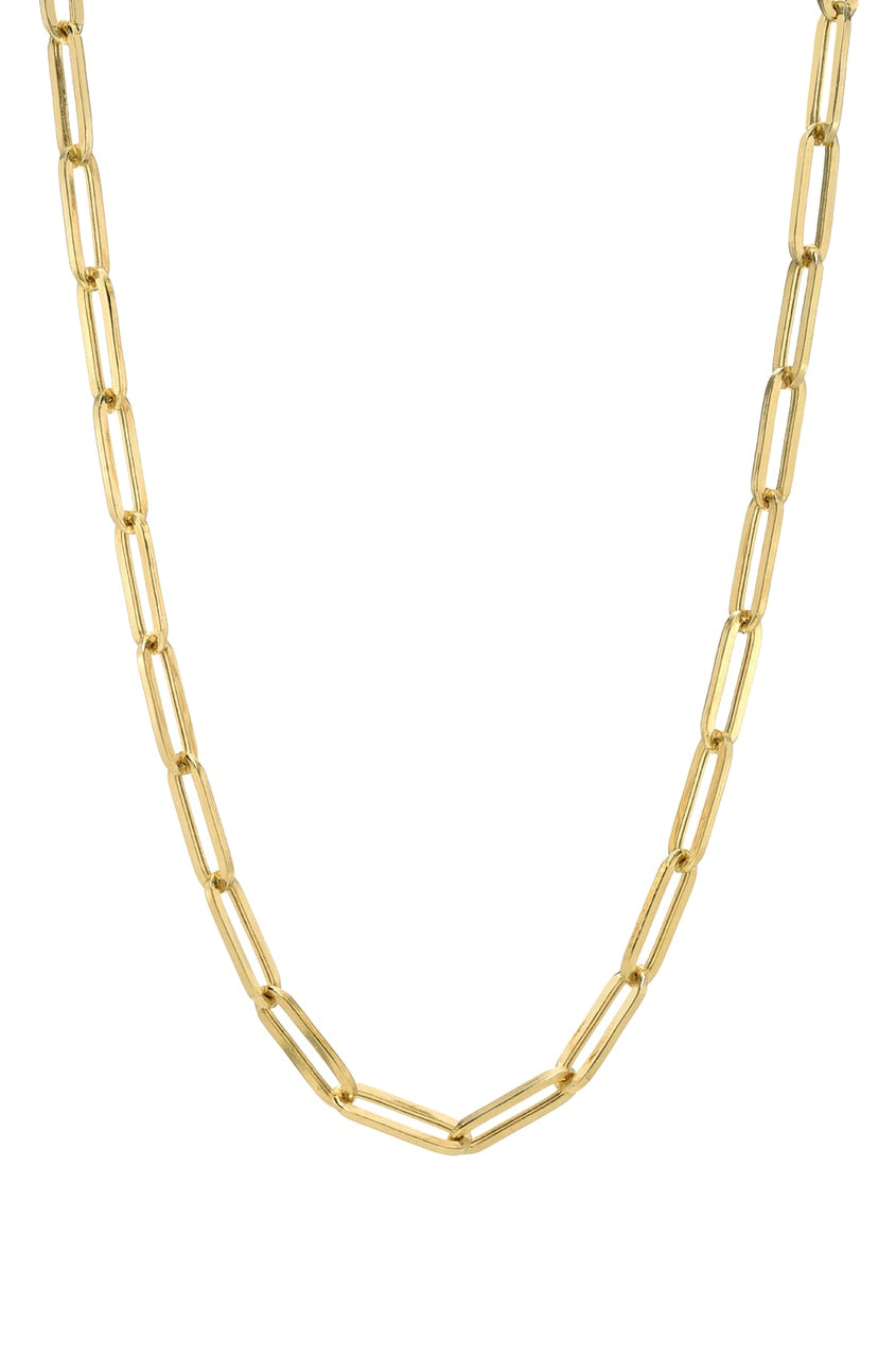 14K Gold Paperclip chain